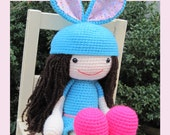 ENGLISH Instructions ONLY - Instant Download PDF Crochet Pattern - Huggy Amy Amigurumi