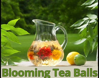 Premium Blooming Tea Sampler (8 Tea Balls veriety)