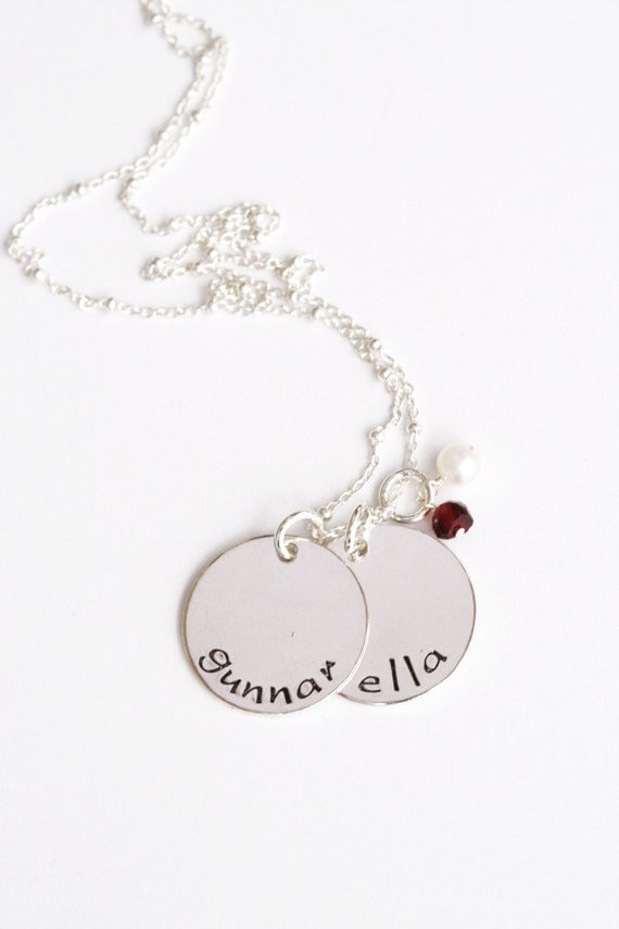 Kids Names Necklace Child Name NecklaceTwo Name Necklace