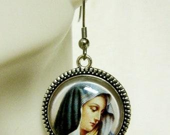Virgin Mary earrings - AP06-044
