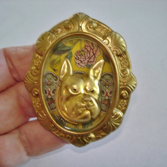 Bull Dog Brooch KL Design
