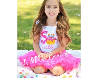 Shopkins birthday shirt - Shopkins Wishes Applique Shirt with number- Custom order- Shopkins Inspired Personalized shirt- Shopkins shirt