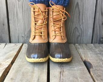 Chunky Wool Denim Blue Knit Boot Cuffs || Thick Boots Topper Faux Leg Warmers Accessory Peep Socks Crochet Fashion Girl Boy Men