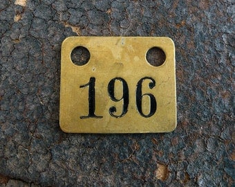 Salvage Brass Tag Number 196