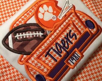 Personalized Football Shirt - Tiger football shirt- Clemson Truck Football Shirt