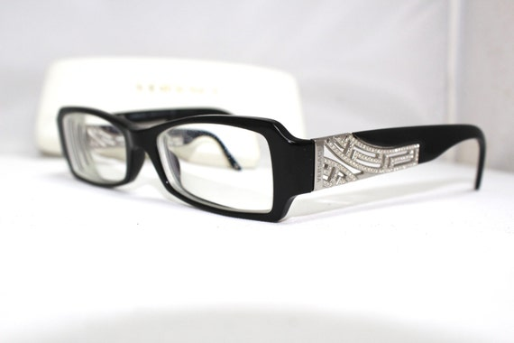 versace eyeglasses with rhinestones made in