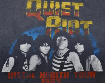 Vintage 80s 1983 QUIET RIOT Metal Health Tour Concert T SHIRT Screen Stars S M
