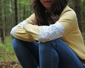 Milk Sweater - yellow sweatshirt with milk print