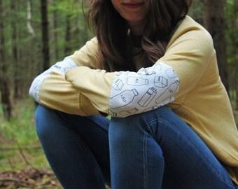 Milk Sweater - yellow sweatshirt with milk print
