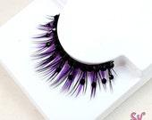 Purple & Black Rhinestone False Eyelashes - SugarKitty Couture
