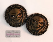 Silver or Gold Brocade Skulls Nipple Pasties - SugarKitty Couture