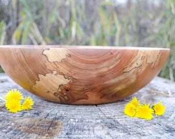 Wood Bowl, Ravishing Red Elm, hand turned Bowl, salad bowl, centerpiece, fruit bowl, Bread Bowl, Wooden Bowl, Elm Bowl, Kitchen ware, Table,