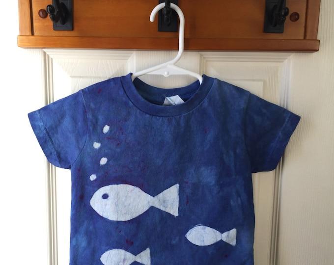 Kids Fish Shirt, Kids Ocean Creature Shirt, Blue Fish Shirt, Kids Ocean Shirt, Boys Fish Shirt, Girls Fish Shirt (2T)