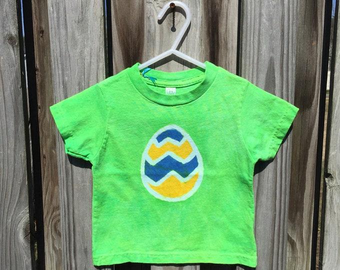 Kids Easter Shirt (18 months), Easter Egg Shirt, Green Easter Shirt, Boys Easter Shirt, Girls Easter Shirt, Lime Green Easter Egg Shirt