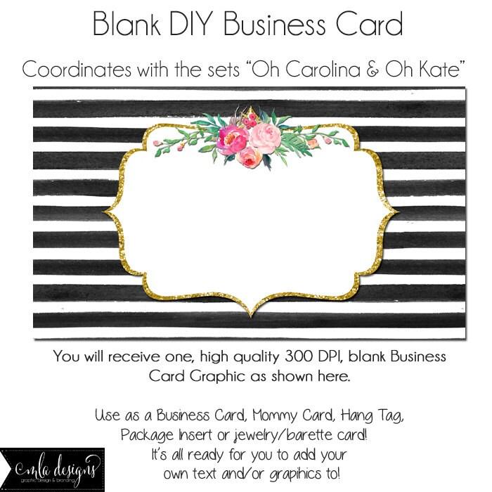 dyi blank business card template oh carolina oh kate made