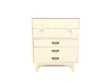 Vintage MCM Highboy In Heavy Cream