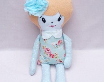 Toddlers Plush Doll - Nursery Décor Girls - Handmade Ragdoll - Soft Doll for Kids - Baby Shower - Gift for Girls