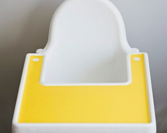 IKEA Antilop Highchair Silicone Placemat // Sunshine Yellow // High Chair Place Mat