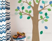 Pattern Tree with Leaves - Peel and Stick Repositionable Stickers