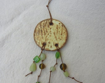Textured Stoneware Pottery Wall Hanging
