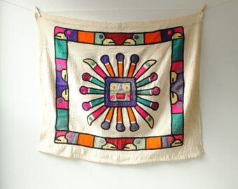 Vintage South American Textile Wall Hanging