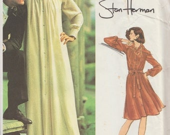 Vogue Americana 2975 / Vintage Designer sewing Pattern By Stan Herman / Dress Caftan Gown / Size 8