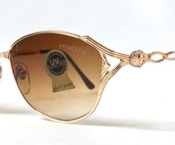 Thin Gold Frame Sunglasses : Items similar to vintage 1980s sunglasses thin gold ...