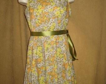 Floral Dress Shroyers 60s Vintage