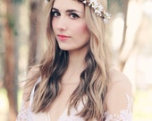 rustic wedding hair accessories white daisy crown bridal headband wedding headpiece bridal head wreath floral hair vine