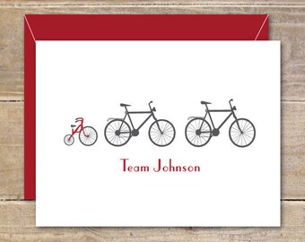 Baby Shower, Thank You Cards, Bicycles, Bikes, Tricycles, Baby Thank You Cards, New Baby Cards, Baby Announcents, Birth Announcements