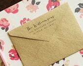 Self-Inking Stamp, Return Address Stamp - Style #01, Wood Mounted or Self-Inking, Wedding Stamp, Personalized Stamp, Custom Stamp