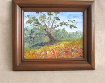 Landscape Painting, Painting, Original, Handmade, Tree, Nature Painting, Landscapes, Framed Art, Framed Paintings, Small Painting, Fine Art
