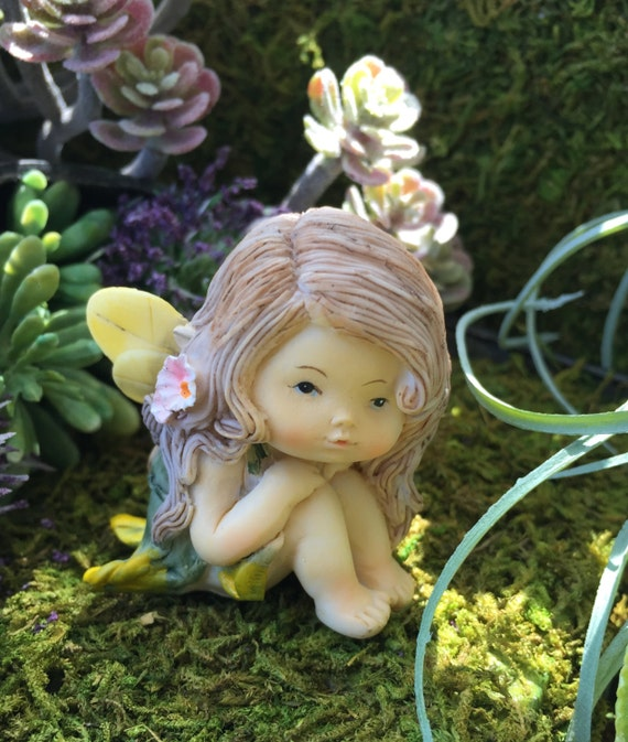 Sweet Little Fairy Girl Figurine, Little Fairy Style 4261, Miniature Garden Decor, Fairy Garden Accessory, Topper