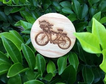 Bike - Wooden Brooch