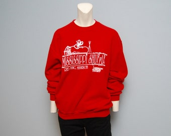 "Vintage ""Mississippi Shuffle"" Red Wing, Minnesota American Cancer Society Sweatshirt - Size M"