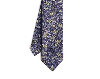 Olivia - Purple/Yellow Floral Men's Tie