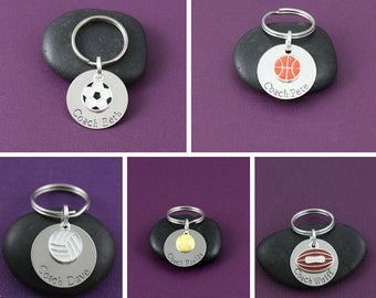 Personalized Sports Gift - Coach Gift - Team Gift - Soccer Team - Sports Fan - Sports Keychain - Custom Name Jewelry -Sports Mom Gift