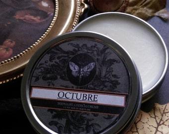 Octubre  Natural Fall Solid Perfume  Hay, Apple, Oakmoss,Cocoa ,Hickory Chamomile, Cinnamon,
