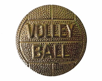 VOLLEYBALL lapel cloisonne vintage pin pinback trophy FIVB high school sports