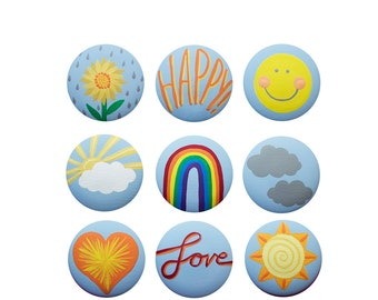 """Hand Painted Knob - Children's Custom Hand Painted """"You Are My Sunshine"""" Drawer Knobs Pulls or Nail Covers for Kids"""