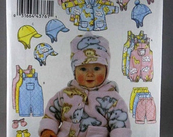 Butterick 5584, Infants' Jacket, Overalls, Pants, Hat and Mittens Sewing Pattern, Size Large and XLarge, Uncut