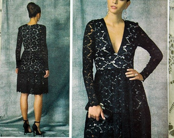 Vogue VP926, Vogue 1471, Misses' Dress Sewing Pattern, Lace Evening Dress, Nicola Finetti Pattern, Misses' 6, 8, 10, 12,14, New and Uncut