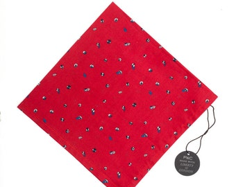 Pomp & Ceremony Pocket Square handkerchief Liberty of London Scatter Buds