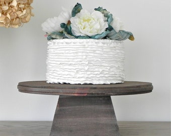 SHIPS NOW 14 inch Cake Stand Rustic Wedding Cake Stand Pedestal Country Grooms Cake E.Isabella Designs Featured Martha Stewart Weddings