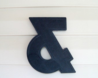 Black Ampersand Marquee 8 Inch Sign Letter Symbol
