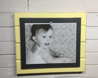 Distressed wood picture frame 8x10 nursery colors decor