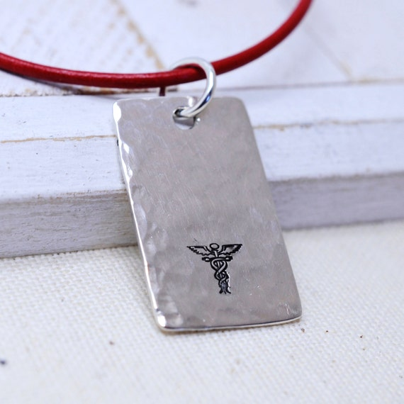 Beautiful Personalized Medical Alert Jewelry - Unisex Medical Alert Necklace - ICE Emergency Info -