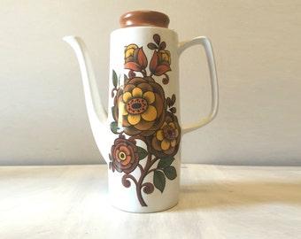 Vintage teapot, ceramic teapot, english teapot, tea pot, floral teapot, retro teapot, tea party, vintage kitchen, vintage tea pot, tea set