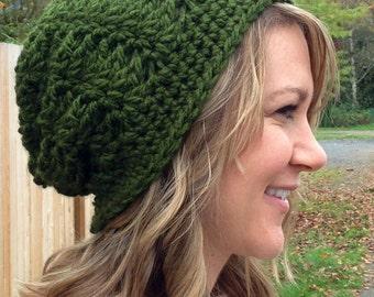 CROCHET PATTERN - Crochet Hat Pattern, Crochet Slouchy Hat,  Slouch Hat Crochet Pattern, Slouchy Beanie Pattern, Women's Slouch Hat Pattern