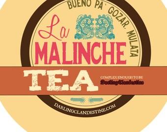 Sample tin: La Malinche loose chocolate hibiscus tea blend